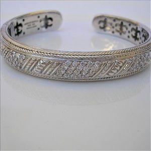 Judith Ripka cuff sterling silver bracelet
